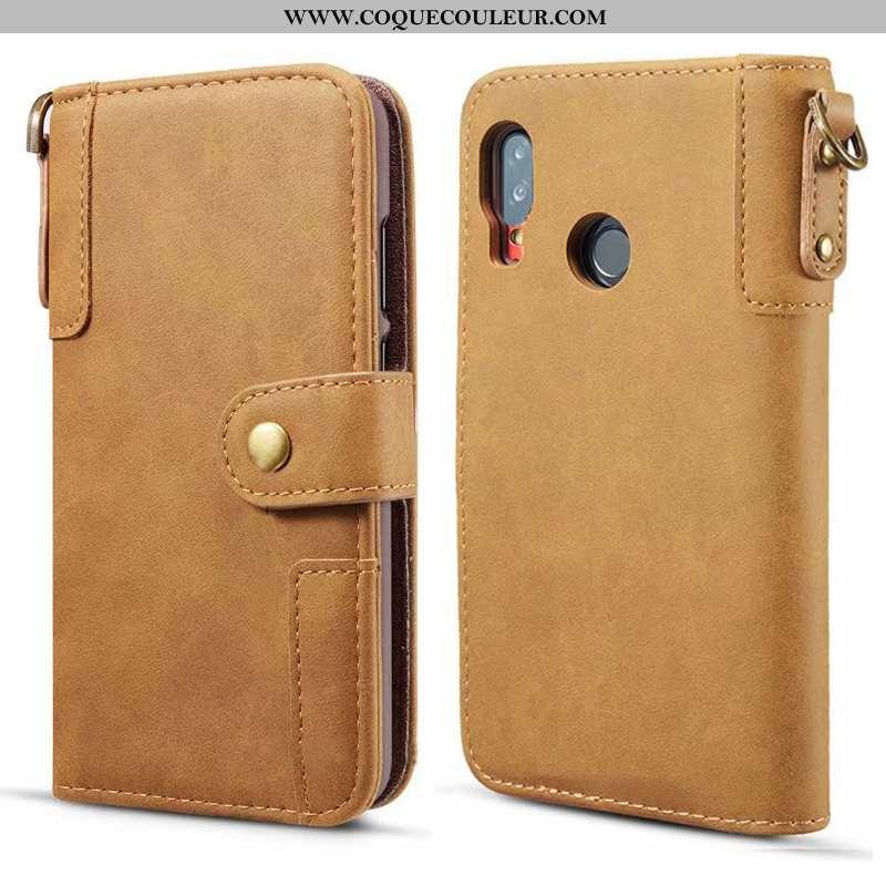 Housse Samsung Galaxy A40 Cuir Véritable Téléphone Portable, Étui Samsung Galaxy A40 Manuel Étoile K