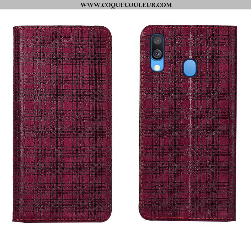 Housse Samsung Galaxy A40 Cuir Téléphone Portable Coque, Étui Samsung Galaxy A40 Protection Velours