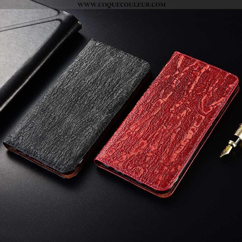 Coque Samsung Galaxy A40 Cuir Étui Coque, Housse Samsung Galaxy A40 Fluide Doux Protection Rouge