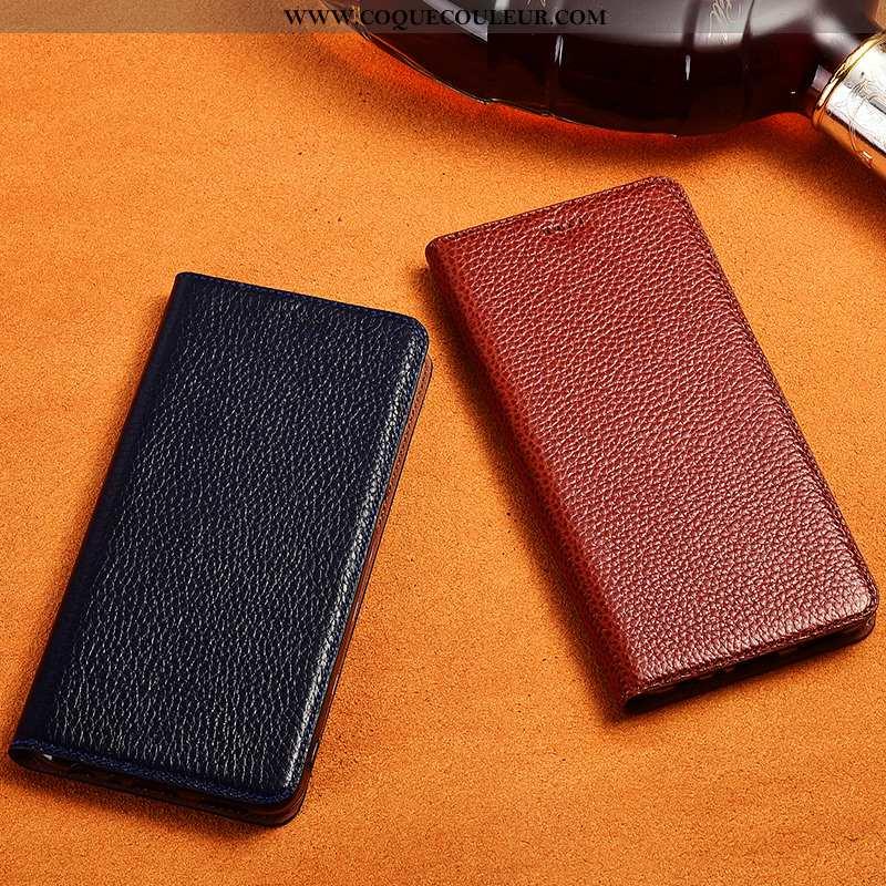 Coque Samsung Galaxy A40 Cuir Véritable Tout Compris Silicone, Housse Samsung Galaxy A40 Cuir Téléph