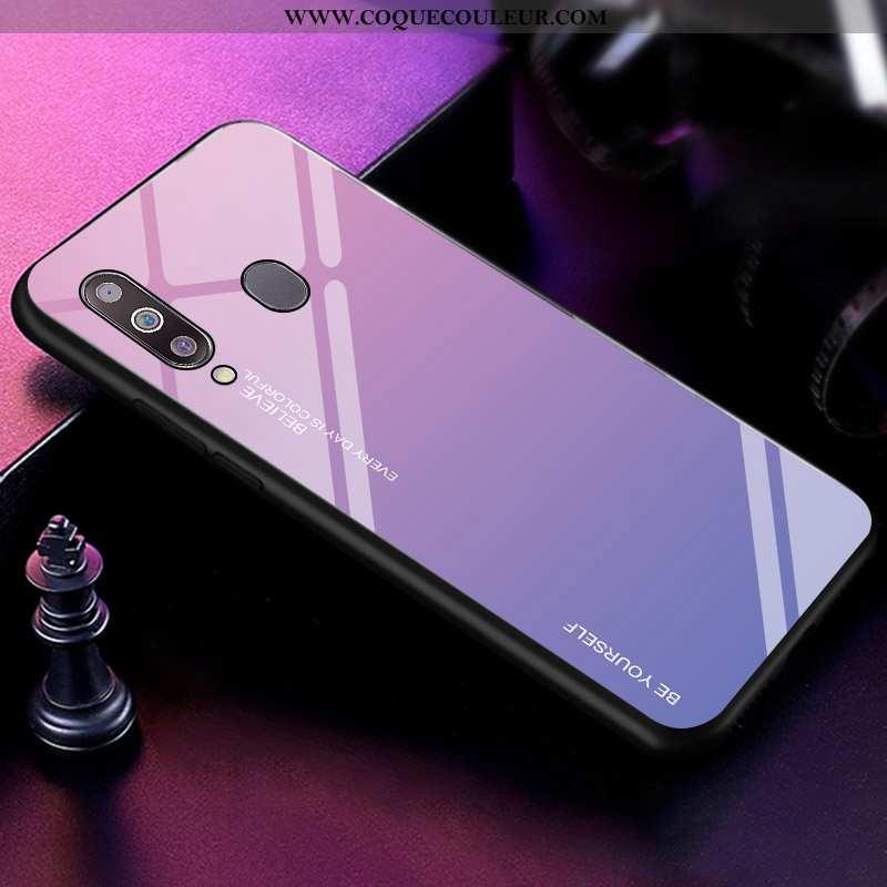 Housse Samsung Galaxy A40s Personnalité Coque Net Rouge, Étui Samsung Galaxy A40s Tendance Incassabl