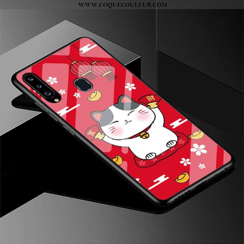 Étui Samsung Galaxy A40s Protection Téléphone Portable Chat, Coque Samsung Galaxy A40s Verre Diffici