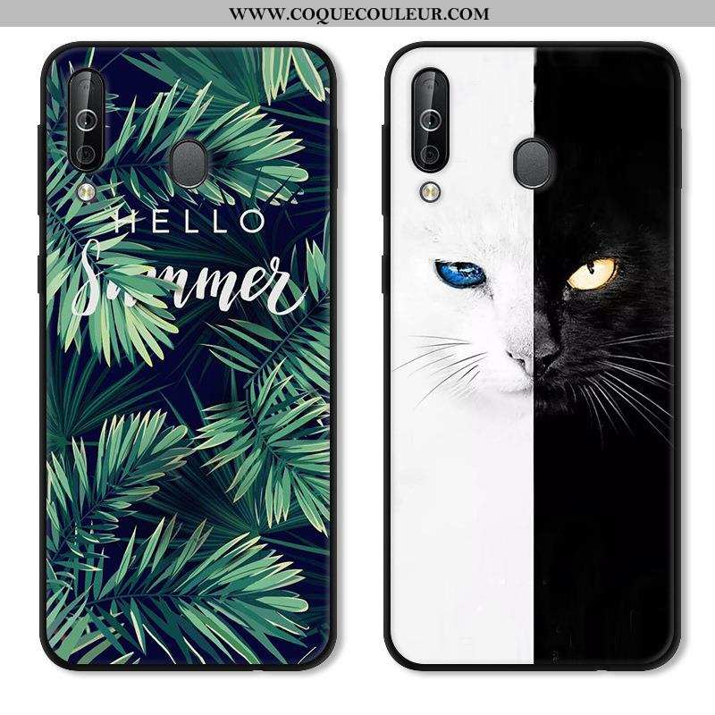 Étui Samsung Galaxy A40s Fluide Doux Étoile, Coque Samsung Galaxy A40s Protection Vert Verte