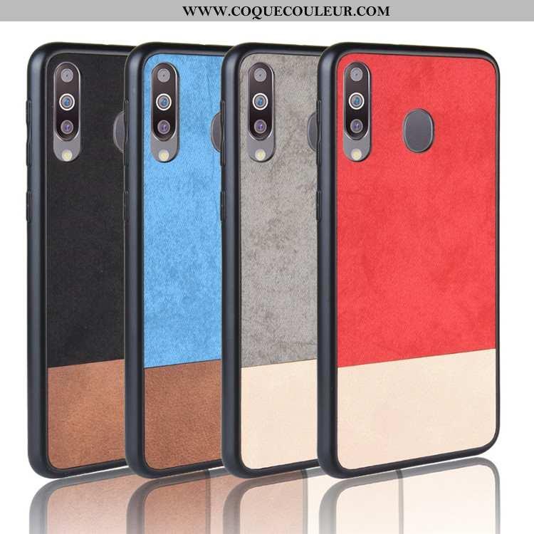 Housse Samsung Galaxy A40s Tendance Coque Rouge, Étui Samsung Galaxy A40s Protection Étoile Rouge