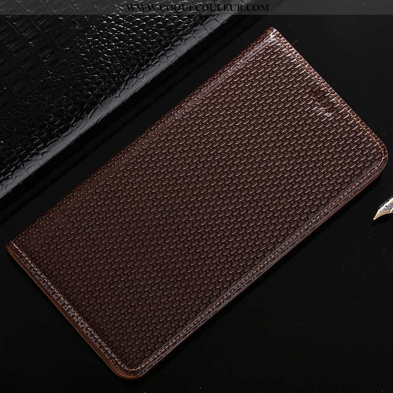 Coque Samsung Galaxy A40s Protection Marron Téléphone Portable, Housse Samsung Galaxy A40s Cuir Véri