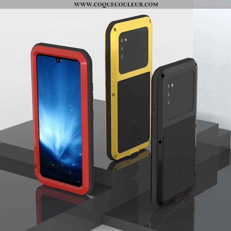 Housse Samsung Galaxy A41 Métal Protection Étui, Étui Samsung Galaxy A41 Silicone Étoile Noir