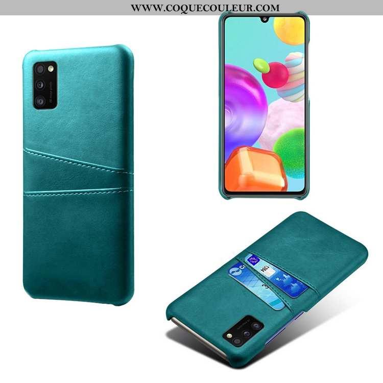 Housse Samsung Galaxy A41 Protection Incassable Cuir, Étui Samsung Galaxy A41 Personnalité Carte Ver