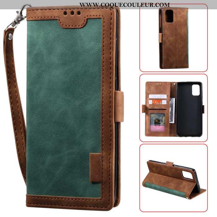 Coque Samsung Galaxy A41 Vintage Tout Compris Étoile, Housse Samsung Galaxy A41 Cuir Téléphone Porta