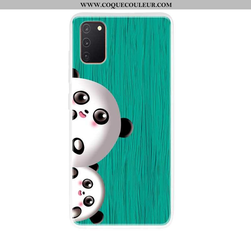 Étui Samsung Galaxy A41 En Bois Chat Vert, Coque Samsung Galaxy A41 Modèle Fleurie Verte
