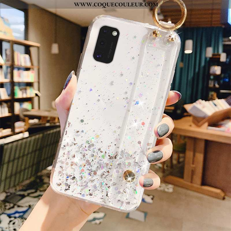 Coque Samsung Galaxy A41 Protection Créatif Tout Compris, Housse Samsung Galaxy A41 Luxe Blanc Blanc
