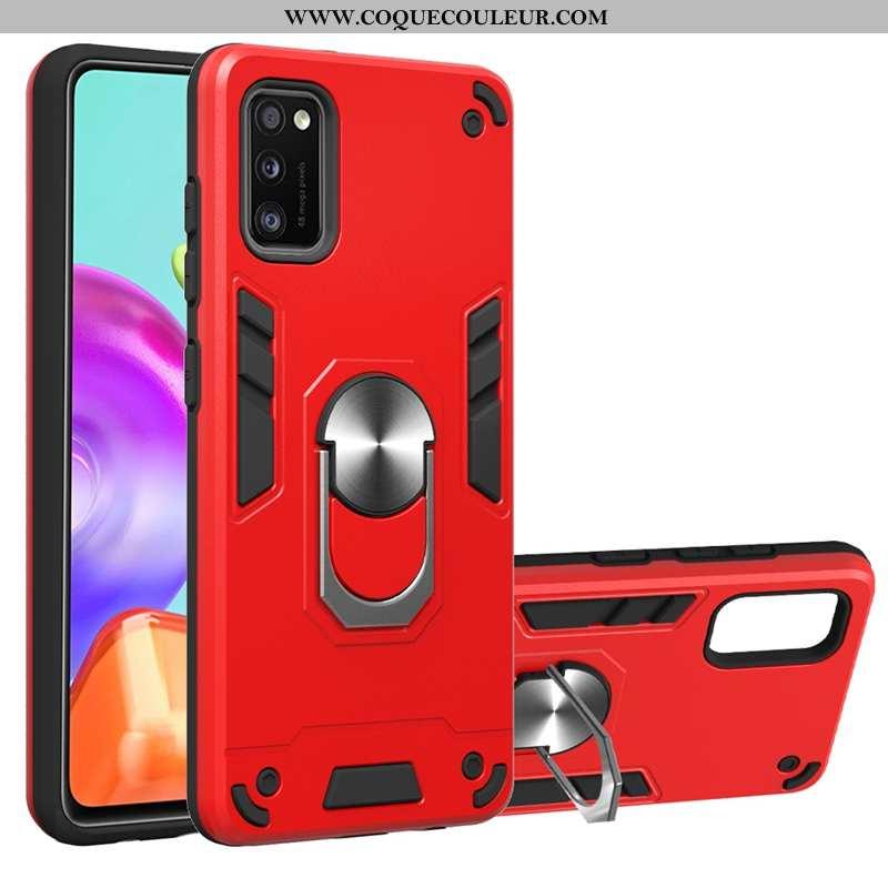 Étui Samsung Galaxy A41 Protection À Bord Rouge, Coque Samsung Galaxy A41 Étoile Téléphone Portable
