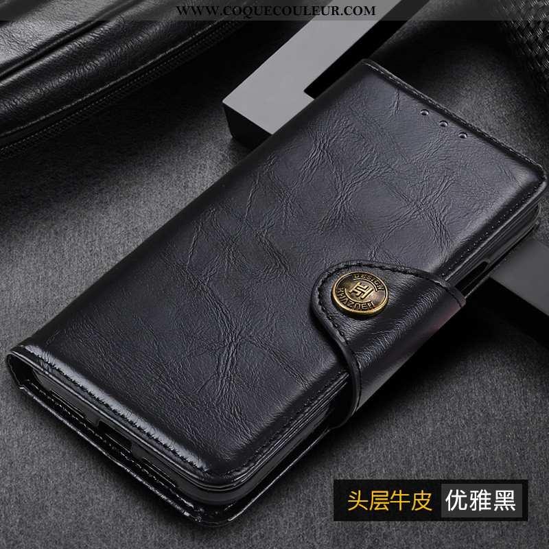 Housse Samsung Galaxy A41 Cuir Coque Téléphone Portable, Étui Samsung Galaxy A41 Étoile Noir