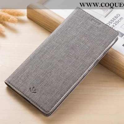 Housse Samsung Galaxy A41 Cuir Téléphone Portable Étoile, Étui Samsung Galaxy A41 Modèle Fleurie Gri