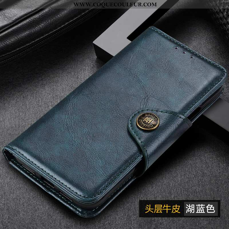 Coque Samsung Galaxy A50 Cuir Véritable Tout Compris Coque, Housse Samsung Galaxy A50 Étoile Étui Bl