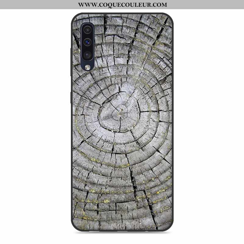 Coque Samsung Galaxy A50 En Bois Modèle Fleurie Nouveau, Housse Samsung Galaxy A50 Tendance Créatif