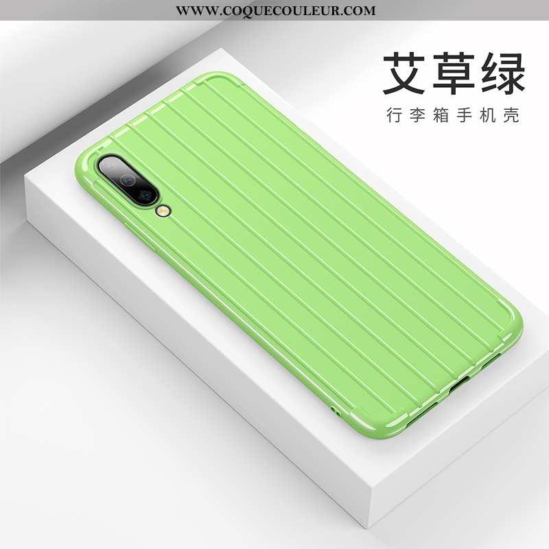 Housse Samsung Galaxy A50 Fluide Doux Vert Net Rouge, Étui Samsung Galaxy A50 Silicone Incassable Ve