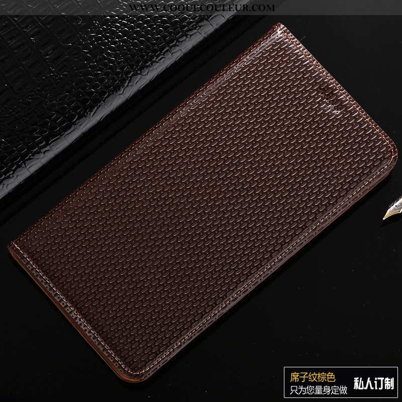 Housse Samsung Galaxy A50s Cuir Véritable Étui, Étui Samsung Galaxy A50s Modèle Fleurie Étoile Marro