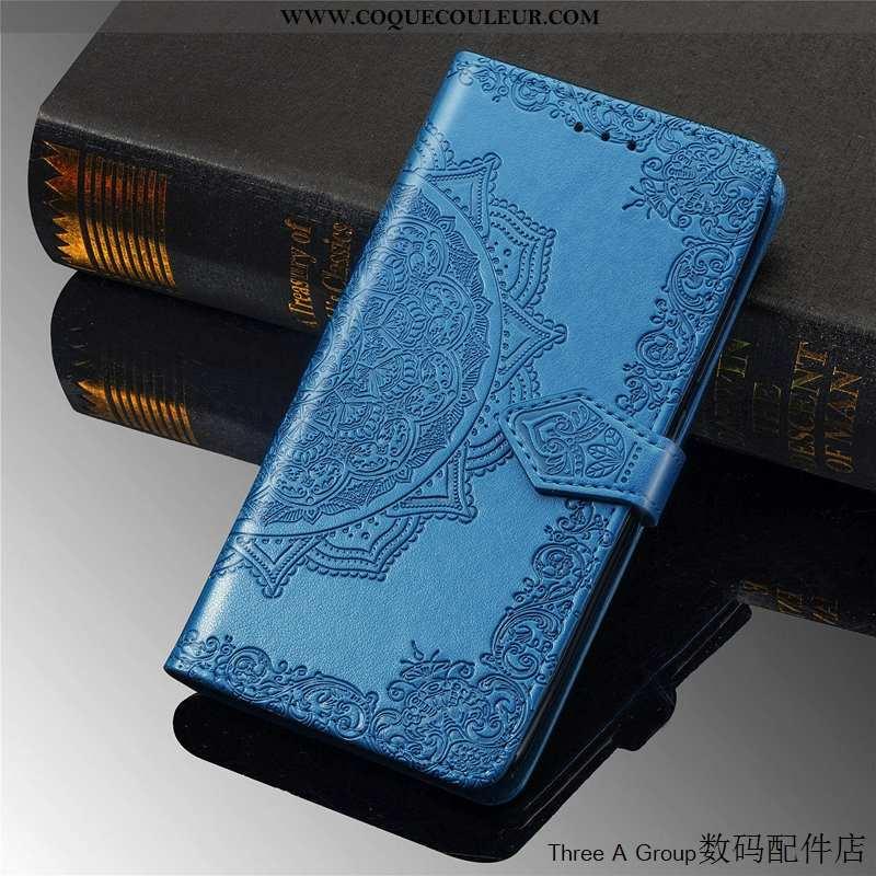 Étui Samsung Galaxy A50s Personnalité Gaufrage Coque, Coque Samsung Galaxy A50s Créatif Bleu