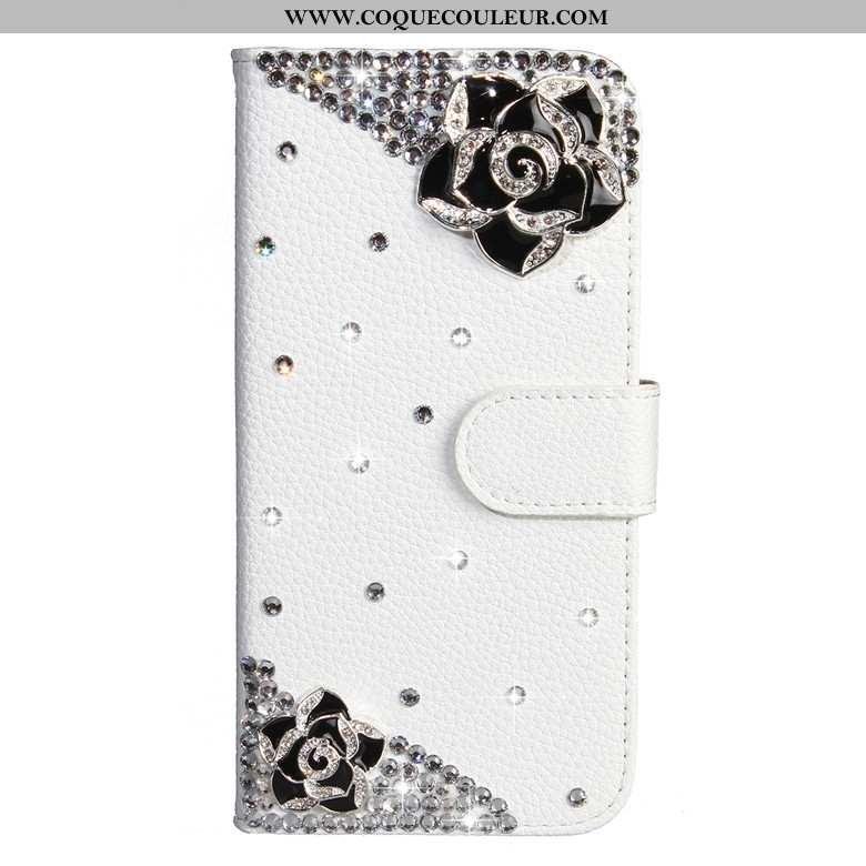 Étui Samsung Galaxy A50s Protection Coque Fleurs De Papillons, Samsung Galaxy A50s Strass Étoile Bla