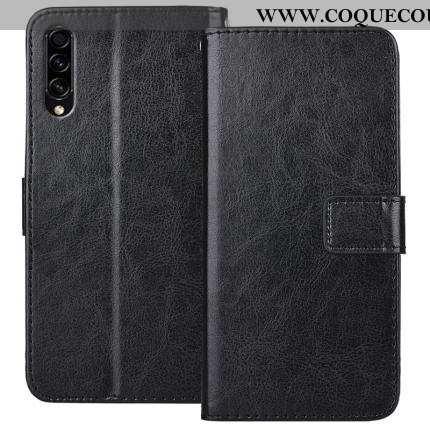 Coque Samsung Galaxy A50s Protection Noir Incassable, Housse Samsung Galaxy A50s Cuir Tout Compris