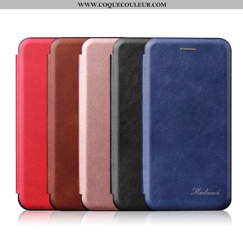 Housse Samsung Galaxy A50s Tendance Magnétisme, Étui Samsung Galaxy A50s Légère Business Bleu Foncé