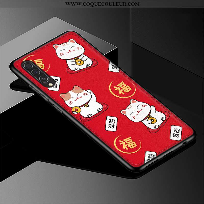 Étui Samsung Galaxy A50s Cuir Chat Étui, Coque Samsung Galaxy A50s Modèle Fleurie Téléphone Portable