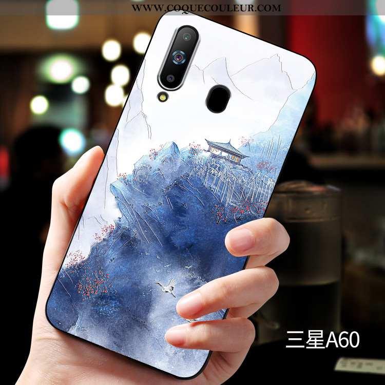 Coque Samsung Galaxy A60 Silicone Fluide Doux Étui, Housse Samsung Galaxy A60 Protection Tout Compri