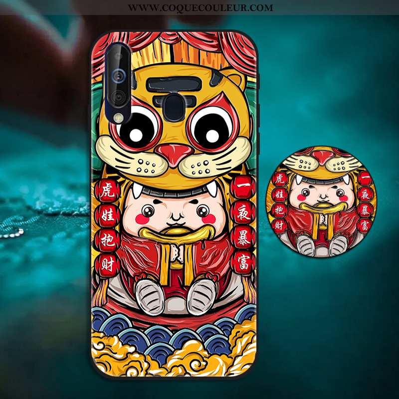 Housse Samsung Galaxy A60 Tendance Tout Compris Rouge, Étui Samsung Galaxy A60 Fluide Doux Support R