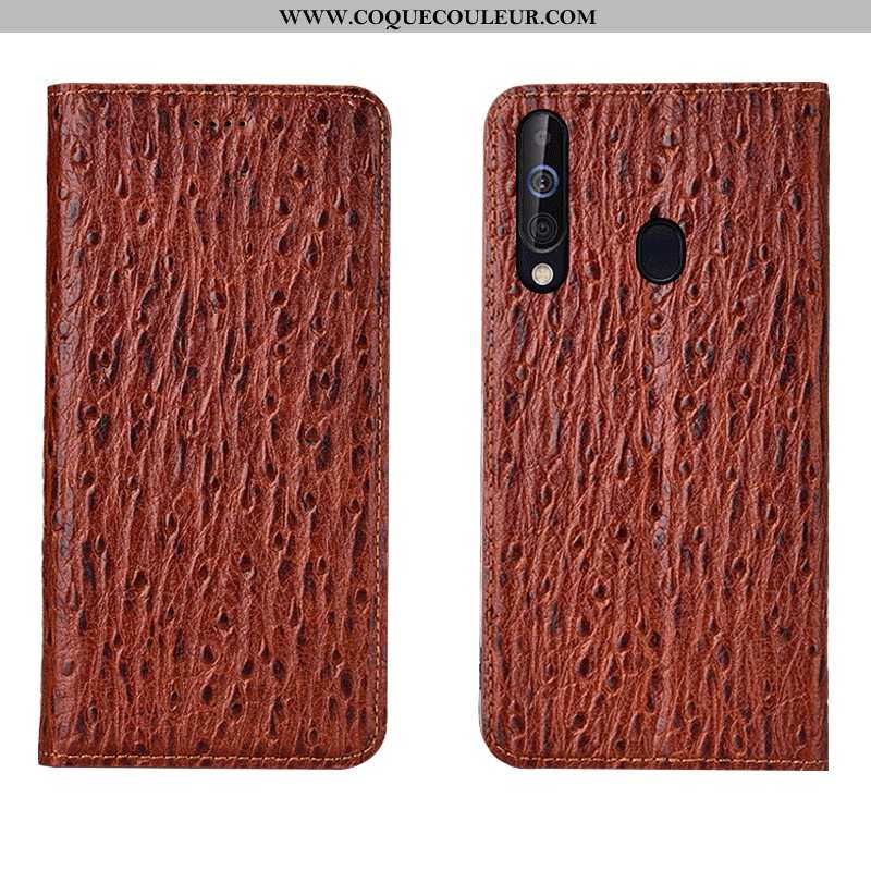 Coque Samsung Galaxy A60 Cuir Véritable Étoile Coque, Housse Samsung Galaxy A60 Protection Incassabl