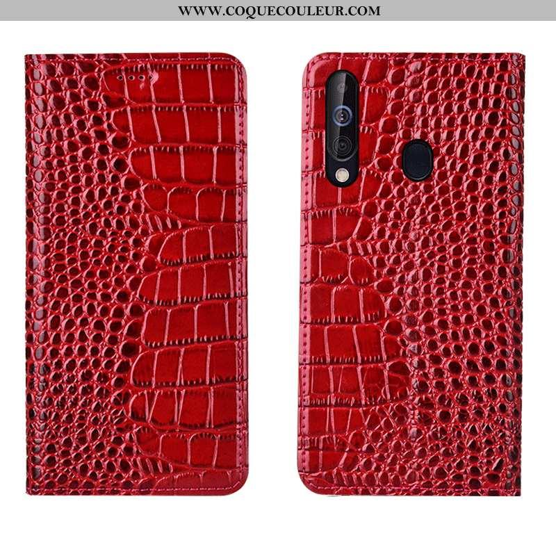 Étui Samsung Galaxy A60 Cuir Véritable Téléphone Portable Coque, Coque Samsung Galaxy A60 Cuir Étoil