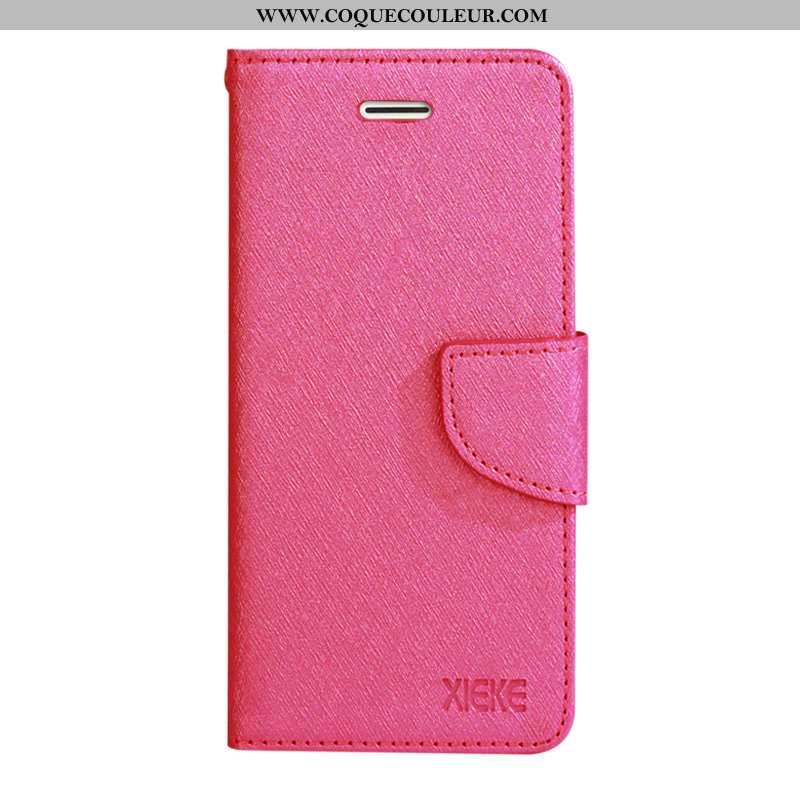 Coque Samsung Galaxy A60 Cuir Téléphone Portable Carte, Housse Samsung Galaxy A60 Silicone Étui Rose