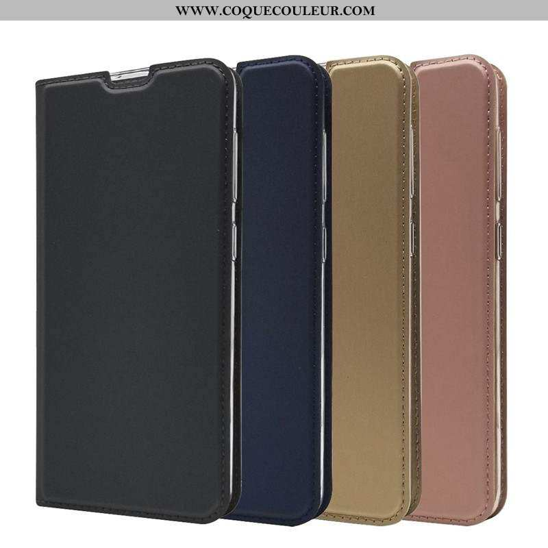 Étui Samsung Galaxy A60 Fluide Doux Housse Cuir, Coque Samsung Galaxy A60 Silicone Étoile Noir