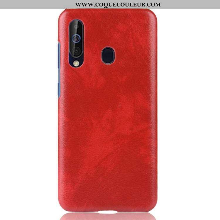 Housse Samsung Galaxy A60 Modèle Fleurie Étoile Coque, Étui Samsung Galaxy A60 Personnalité Rouge
