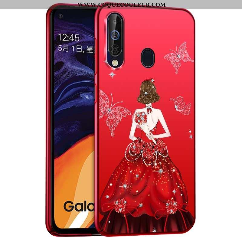 Étui Samsung Galaxy A60 Mode Étoile Rouge, Coque Samsung Galaxy A60 Protection Plastique Rouge