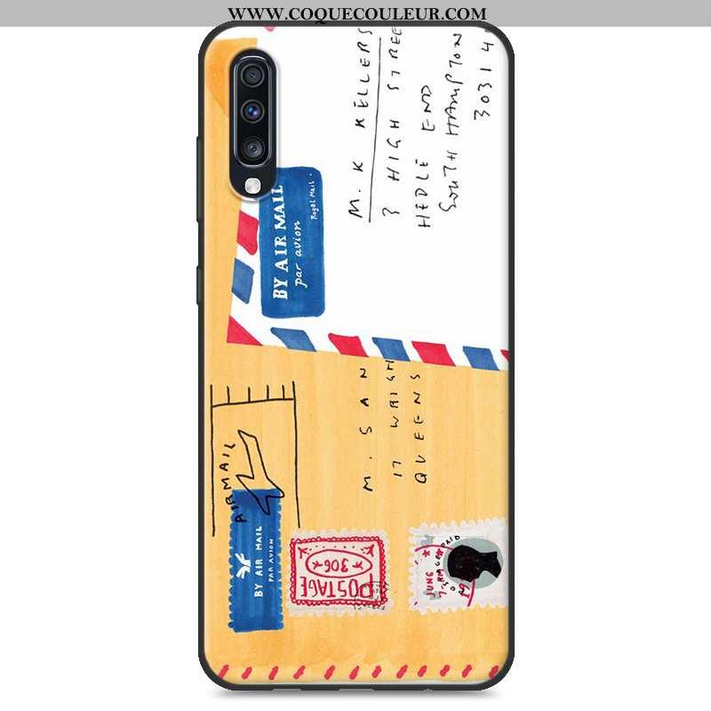 Étui Samsung Galaxy A70 Charmant Coque Tout Compris, Samsung Galaxy A70 Tendance Délavé En Daim Jaun