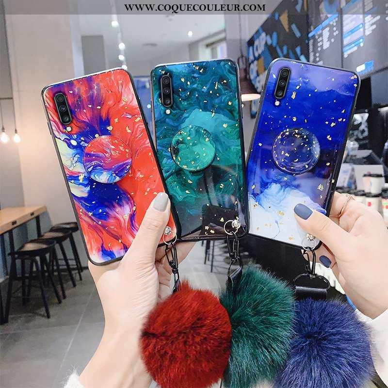 Étui Samsung Galaxy A70 Personnalité Protection Incassable, Coque Samsung Galaxy A70 Créatif Rouge