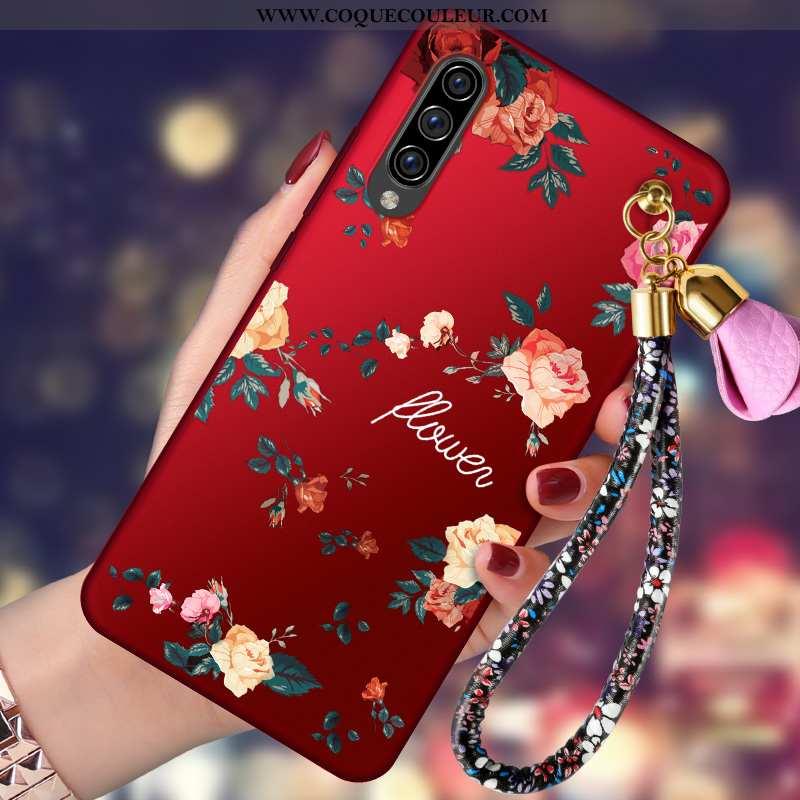Coque Samsung Galaxy A70 Légère Délavé En Daim Incassable, Housse Samsung Galaxy A70 Fluide Doux Ten