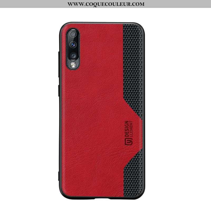 Housse Samsung Galaxy A70 Silicone Coque Nylon, Étui Samsung Galaxy A70 Protection Rouge