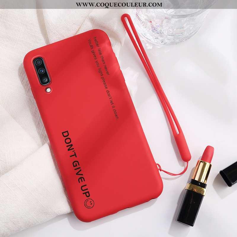Coque Samsung Galaxy A70 Tendance Net Rouge Rouge, Housse Samsung Galaxy A70 Légère Protection