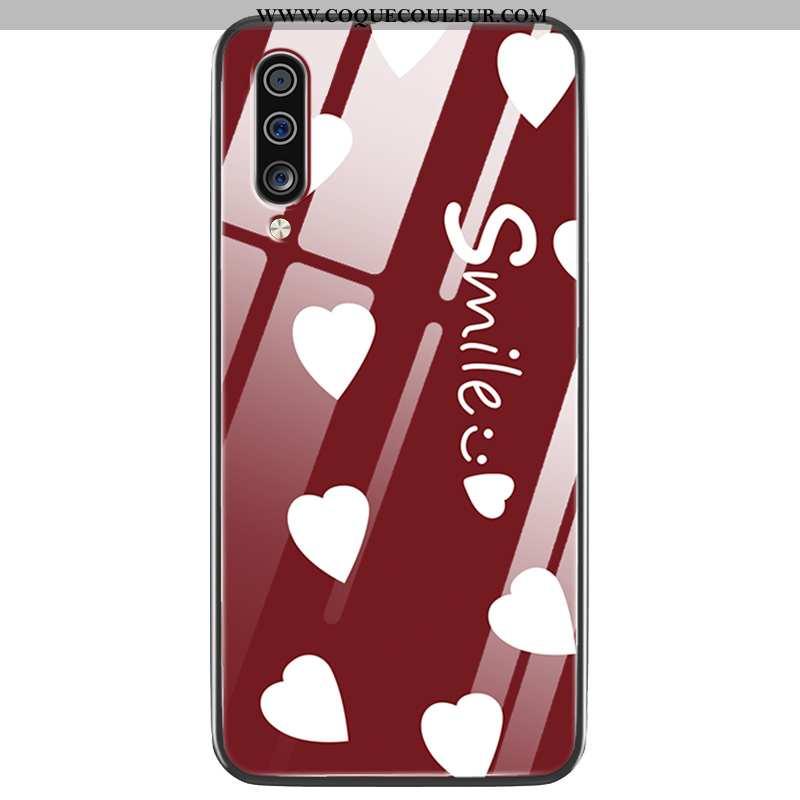Housse Samsung Galaxy A70 Protection Rouge Ornements Suspendus, Étui Samsung Galaxy A70 Verre Coque
