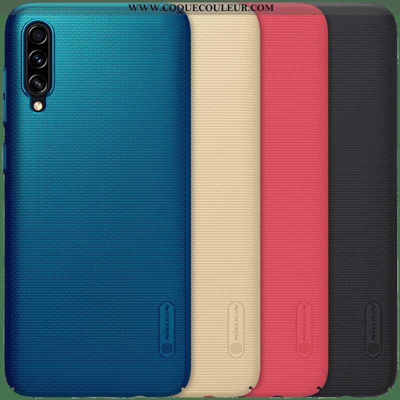 Housse Samsung Galaxy A70s Protection Étui Bleu, Samsung Galaxy A70s Délavé En Daim Légère Bleu