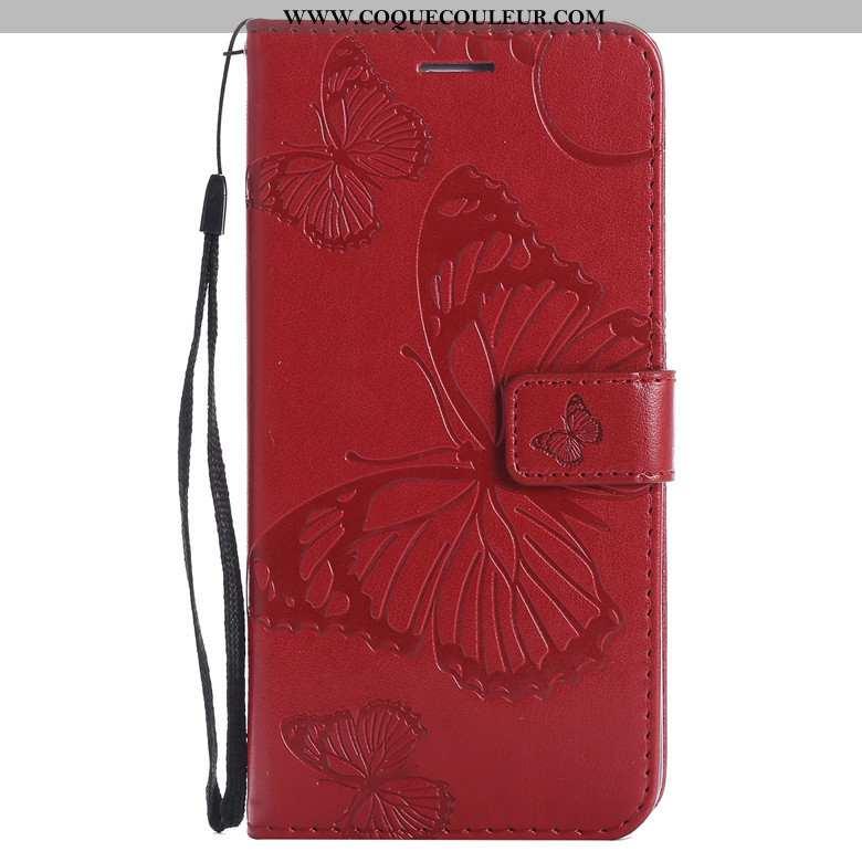 Housse Samsung Galaxy A70s Cuir Téléphone Portable Coque, Étui Samsung Galaxy A70s Protection Orange