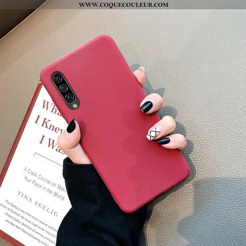 Étui Samsung Galaxy A70s Délavé En Daim Incassable Coque, Coque Samsung Galaxy A70s Tendance Légère