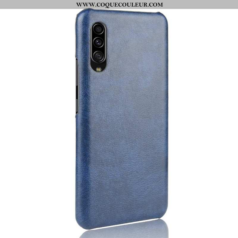 Housse Samsung Galaxy A70s Protection Bleu Modèle Fleurie, Étui Samsung Galaxy A70s Cuir Coque