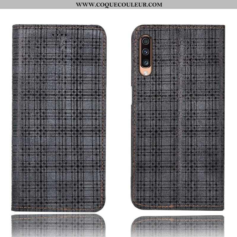 Coque Samsung Galaxy A70s Modèle Fleurie Housse Cuir Véritable, Samsung Galaxy A70s Protection Étui