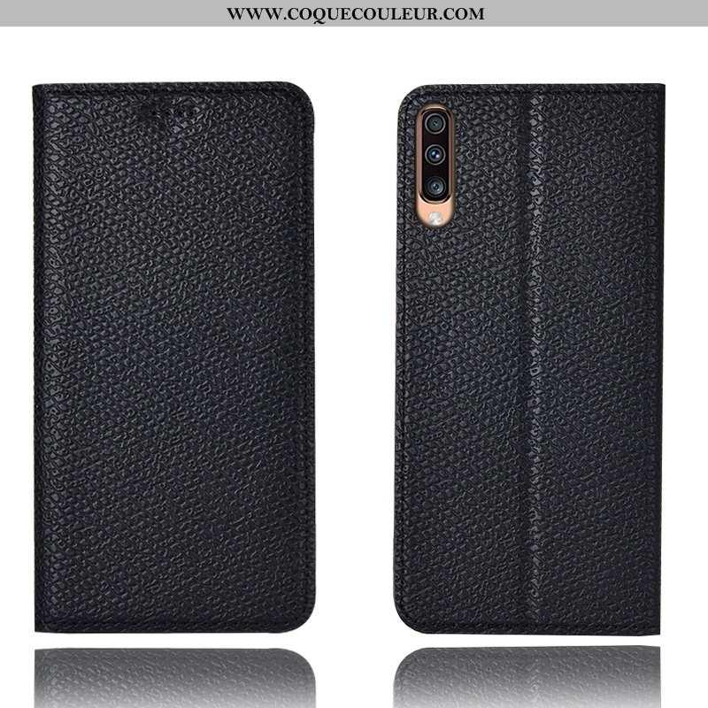 Coque Samsung Galaxy A70s Modèle Fleurie Étui Mesh, Housse Samsung Galaxy A70s Protection Noir