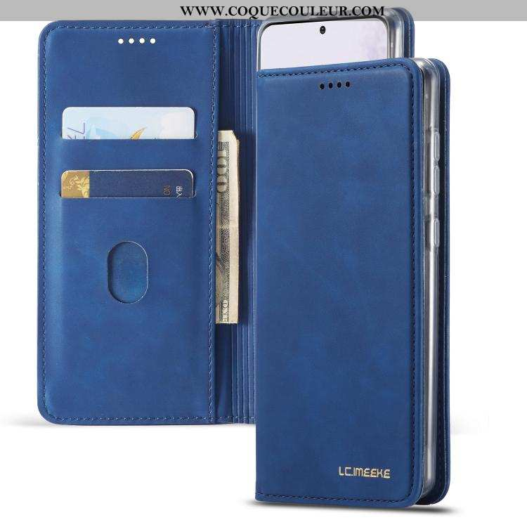 Coque Samsung Galaxy A71 Protection Simple Étui, Housse Samsung Galaxy A71 Étoile Incassable Bleu