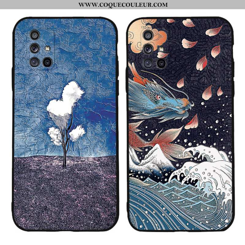 Étui Samsung Galaxy A71 Gaufrage Personnalité Tout Compris, Coque Samsung Galaxy A71 Ultra Silicone
