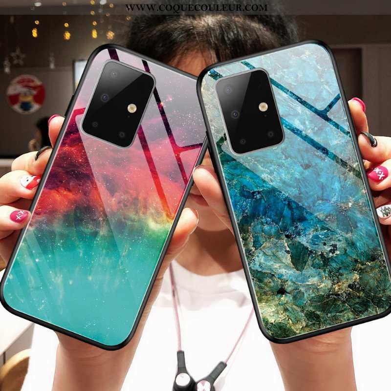 Coque Samsung Galaxy A71 Mode Difficile Miroir, Housse Samsung Galaxy A71 Protection Légère Bleu