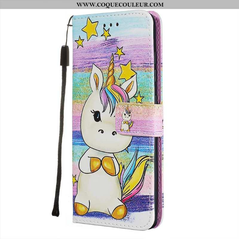 Étui Samsung Galaxy A71 Cuir Coque Téléphone Portable, Samsung Galaxy A71 Fluide Doux Étoile Rose